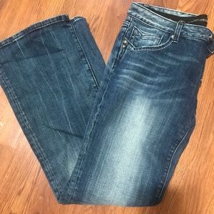 Express boot cut dark wash jeans size 12R